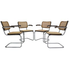 Marcel Breuer Original Set of 4 Model-S64 Chairs by Thonet