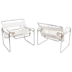 """Marcel Breuer, Pair of Armchairs """"Wassily"""", 1960s"""