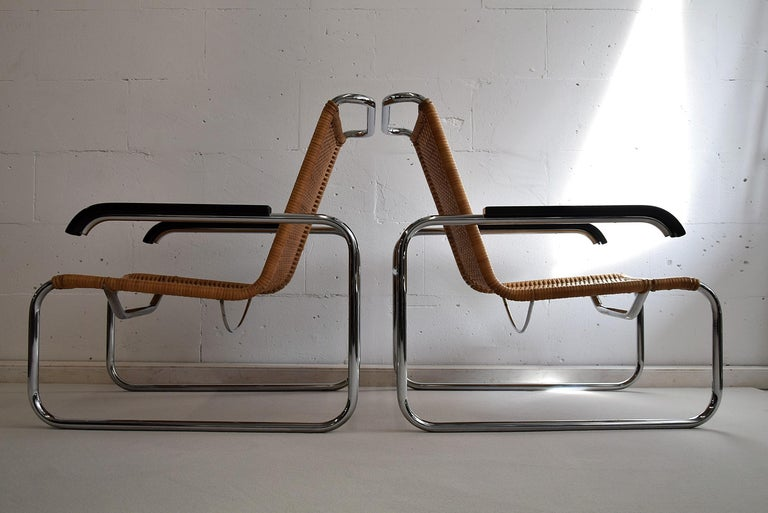 Marcel Breuer S35 Bauhaus Club Chair for Thonet In Good Condition For Sale In Weesp, NL