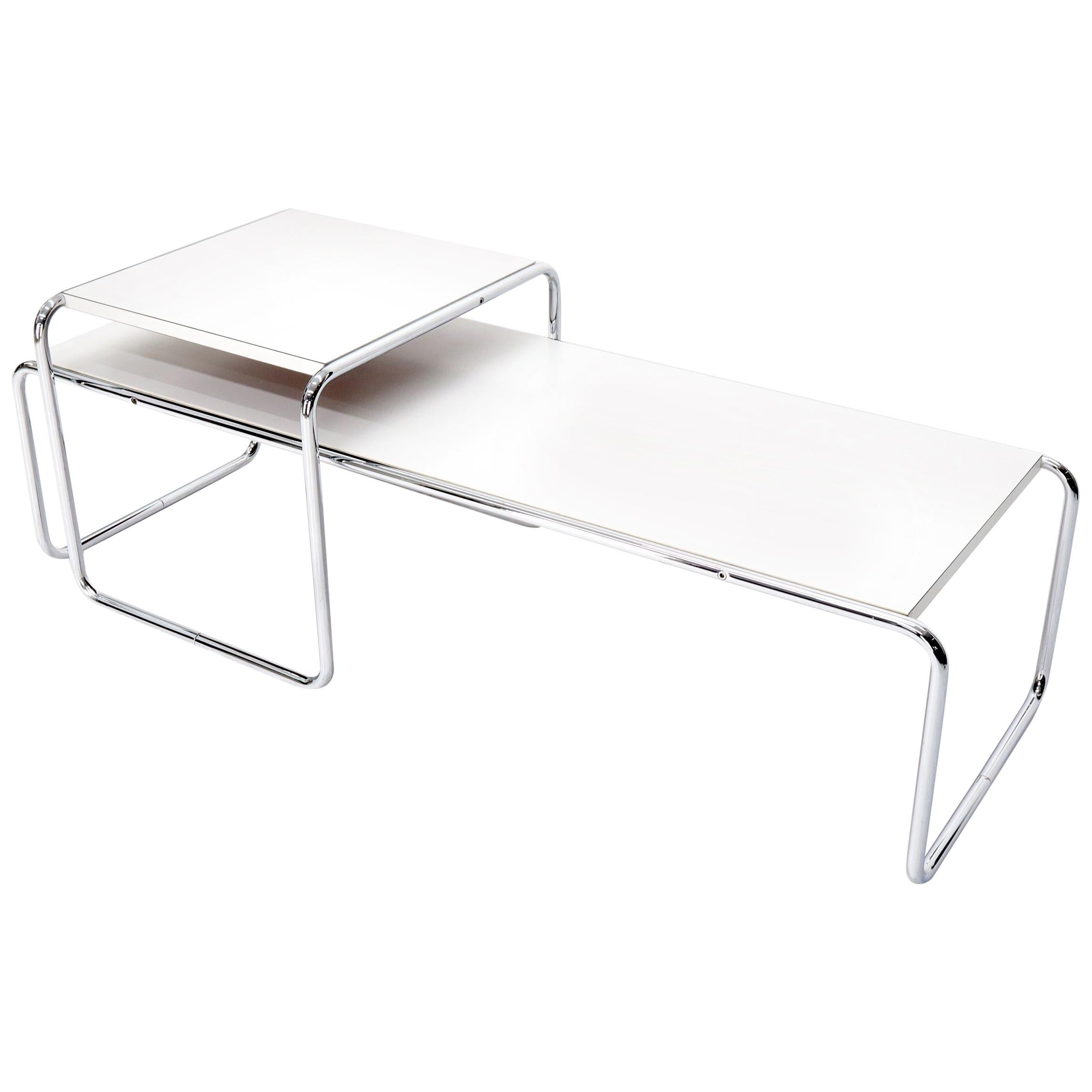 Marcel Breuer Set of Nesting Rectangle Coffee and Side Table Stendig, Finland