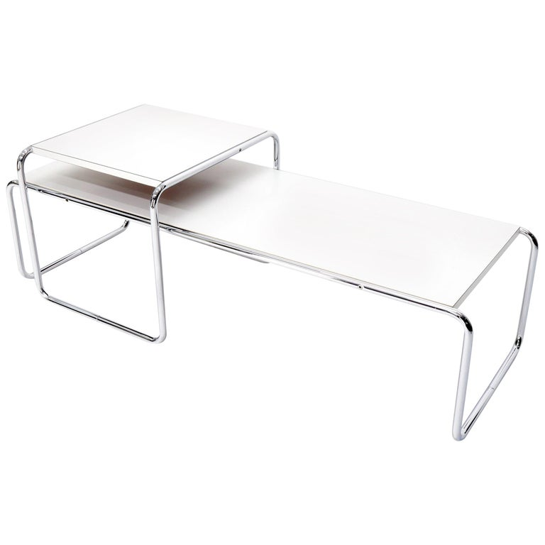 Marcel Breuer Set of Nesting Rectangle Coffee and Side Table Stendig, Finland For Sale