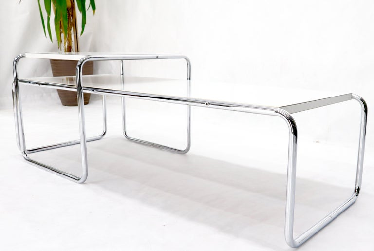 Marcel Breuer Set of Nesting Rectangle Coffee and Side Table Stendig, Finland In Good Condition For Sale In Rockaway, NJ