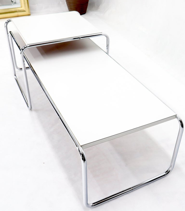 20th Century Marcel Breuer Set of Nesting Rectangle Coffee and Side Table Stendig, Finland For Sale