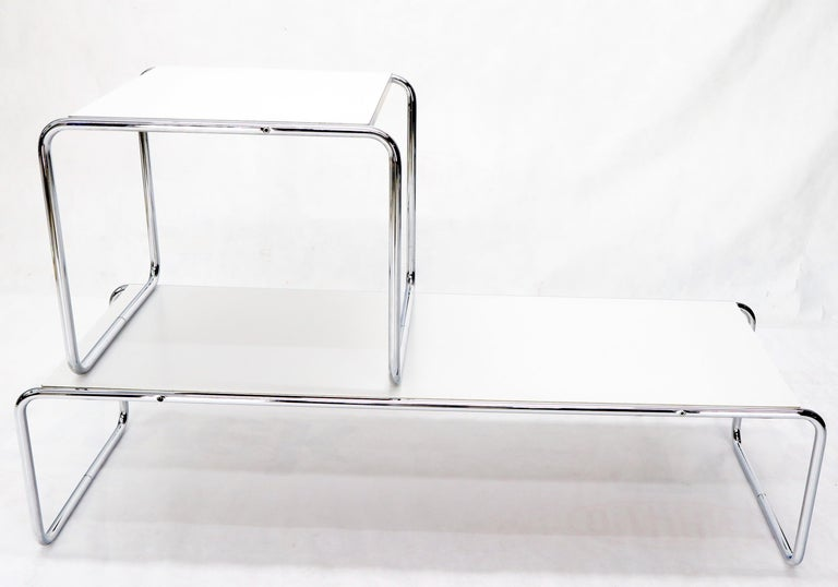 Marcel Breuer Set of Nesting Rectangle Coffee and Side Table Stendig, Finland For Sale 1