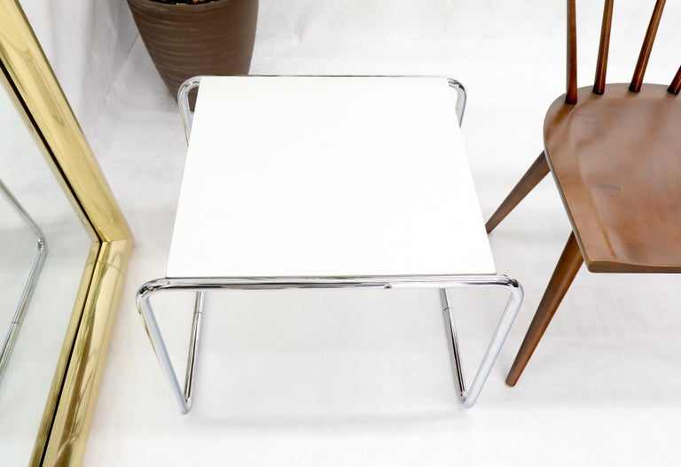 Marcel Breuer Set of Nesting Rectangle Coffee and Side Table Stendig, Finland For Sale 2