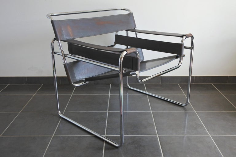 Marcel Breuer Wassily Armchair, Ed. Fasem Italy, 1980s at ...