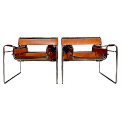 """Marcel Breuer """"Wassily"""" Armchairs, Pair"""