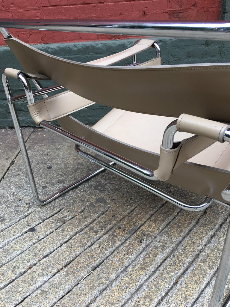 Leather Marcel Breuer Wassily Chair For Sale