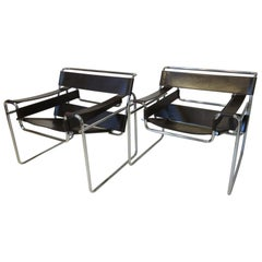 Marcel Breuer Wassily Lounge Chairs by Gavina SpA, Italy
