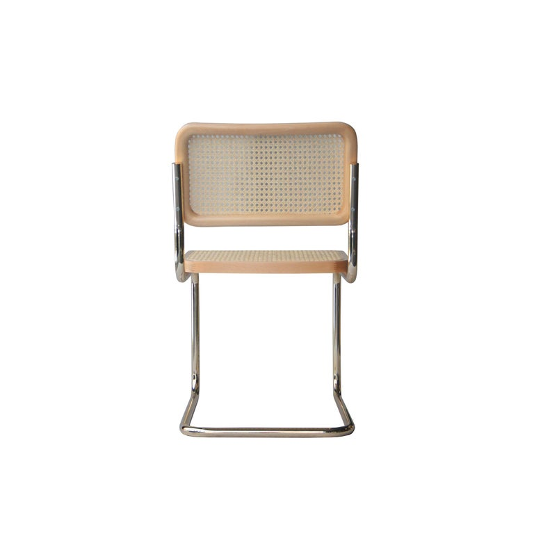 Marcel Breuer Yco by Gavina Cesca Brass Chair, Spain, 1960 In Excellent Condition For Sale In Madrid, ES