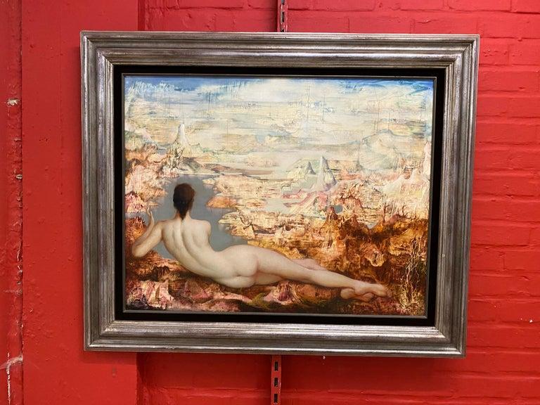 Marcel Delmotte, Oil on Panel Painting