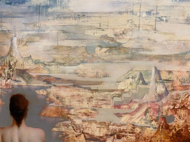 Belgian Marcel Delmotte, Oil on Panel Painting