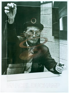 The Oculist Witnesses vintage Marcel Duchamp poster with Richard Hamilton photo