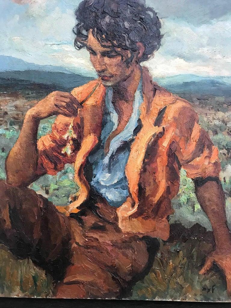 Beaux Arts Marcel Dyf (Dreyfuss) Le Gitan, the Gypsy, 1899-1985 For Sale