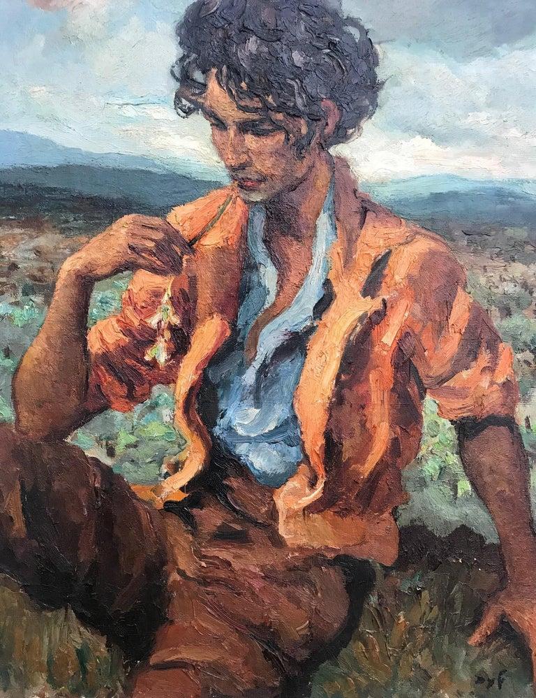 Marcel Dyf (Dreyfuss) Le Gitan, the Gypsy, 1899-1985 In Good Condition For Sale In London, GB