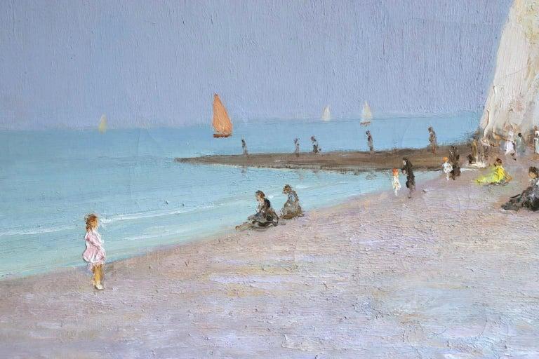Baigneurs sous les falaises - Post Impressionist Oil, Landscape by Marcel Dyf For Sale 9