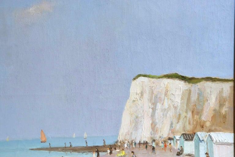 Baigneurs sous les falaises - Post Impressionist Oil, Landscape by Marcel Dyf For Sale 2