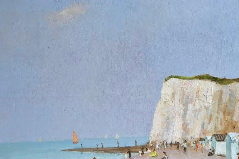 Baigneurs sous les falaises - Post Impressionist Oil, Landscape by Marcel Dyf For Sale 3