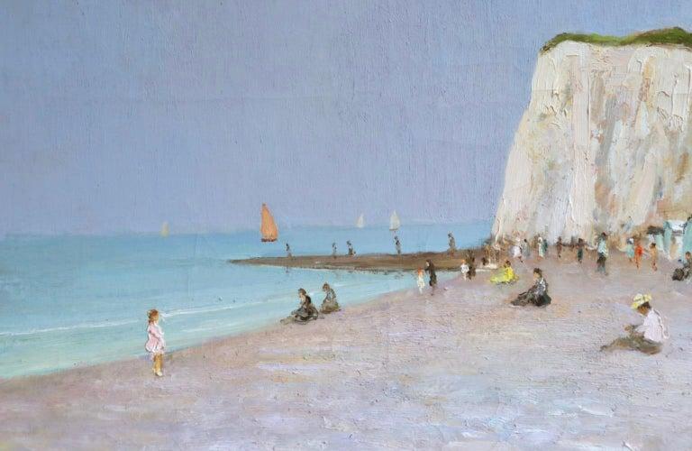 Baigneurs sous les falaises - Post Impressionist Oil, Landscape by Marcel Dyf For Sale 4
