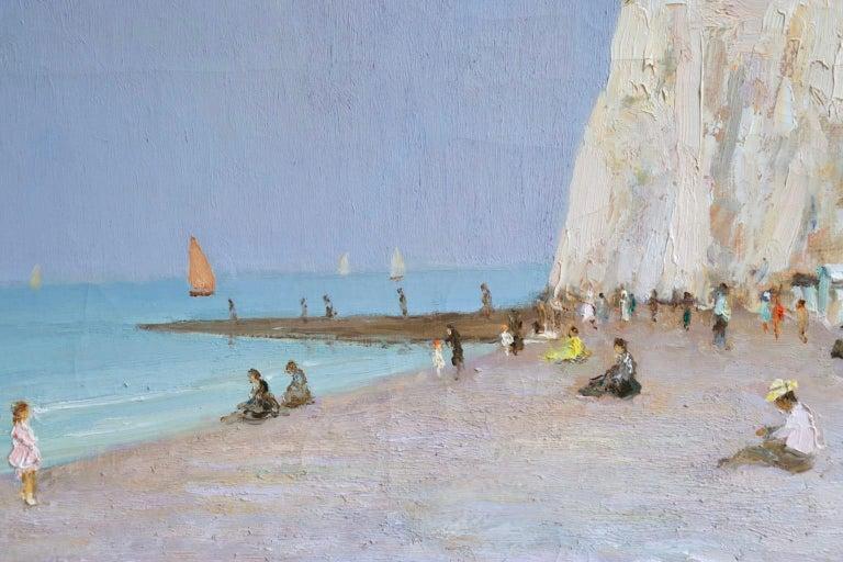 Baigneurs sous les falaises - Post Impressionist Oil, Landscape by Marcel Dyf For Sale 5