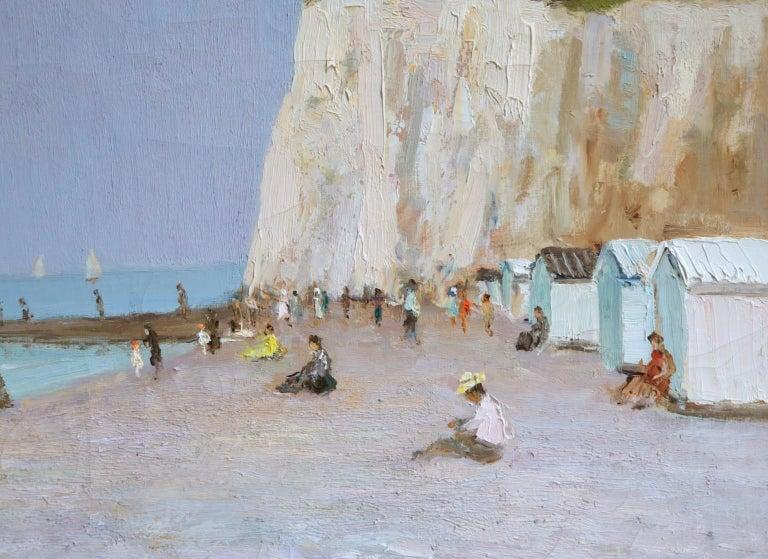 Baigneurs sous les falaises - Post Impressionist Oil, Landscape by Marcel Dyf For Sale 6