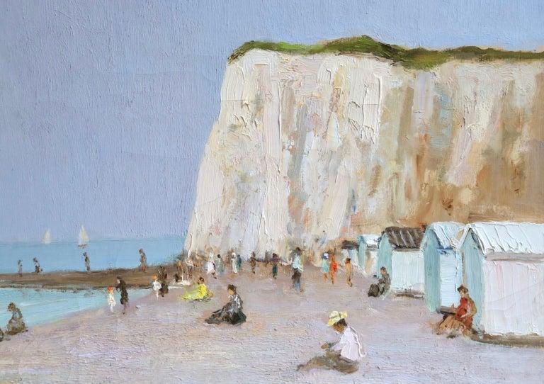 Baigneurs sous les falaises - Post Impressionist Oil, Landscape by Marcel Dyf For Sale 7