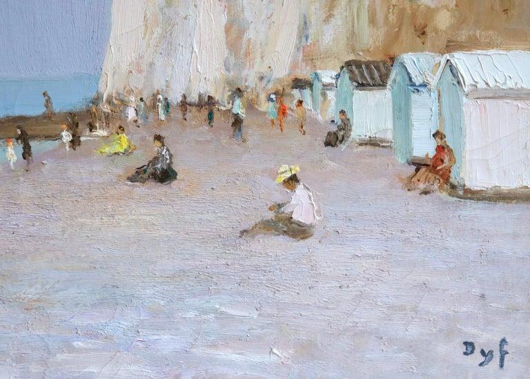 Baigneurs sous les falaises - Post Impressionist Oil, Landscape by Marcel Dyf For Sale 8