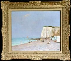 Baigneurs sous les falaises - Post Impressionist Oil, Landscape by Marcel Dyf