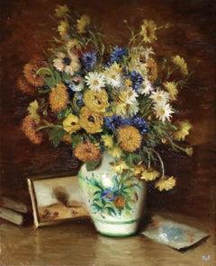 Bleuets Anthémise Jaunes et Blanches - 20th Century, Still Life Flowers - M Dyf