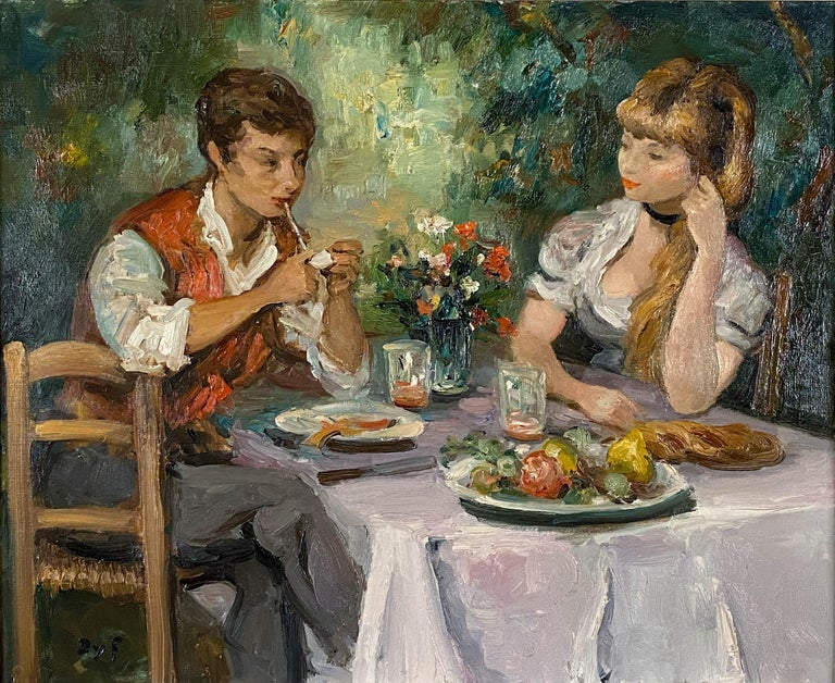 Djeuner Champtre - Painting by Marcel Dyf