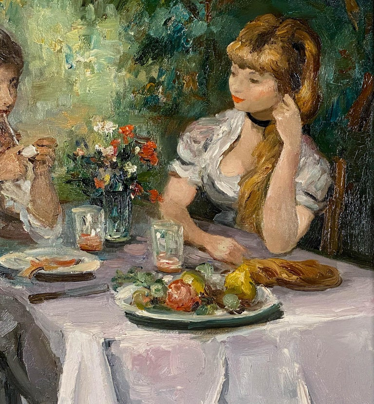 Djeuner Champtre - Post-Impressionist Painting by Marcel Dyf