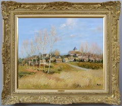 French landscape oil painting of Neauphle-le-Chateau