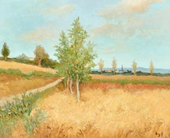 Impressionist French Landscape Painting by Marcel Dyf 'Campagne Ile de France''