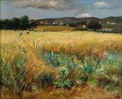 Impressionist French Landscape Painting by Marcel Dyf 'Rassemblement des Fleurs'