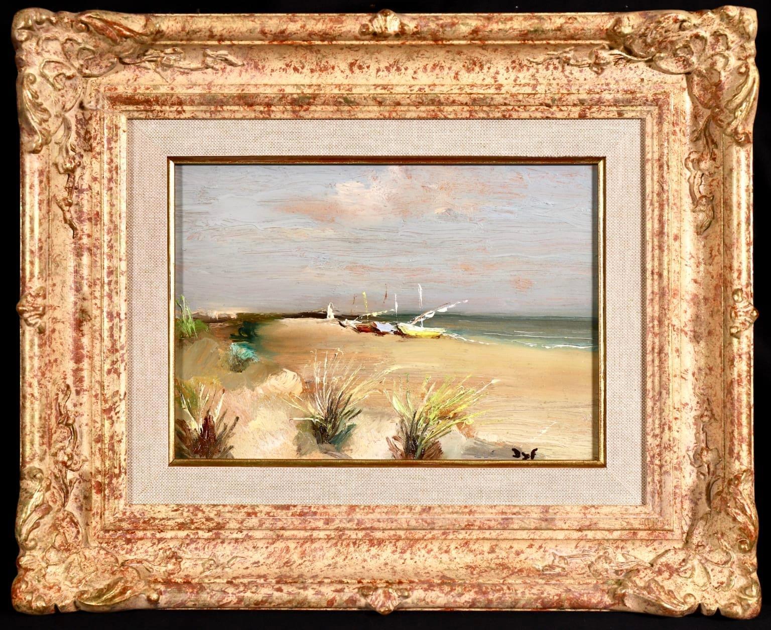 Les Saintes Maries de la Mer - Post Impressionist Oil, Seascape by Marcel Dyf