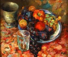 Nature Morte a la coupe de Fruits - Post Impressionist Still Life - Marcel Dyf
