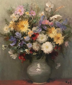 Still-Life painting by Marcel Dyf in an Impressionist style 'Bouquet Des Fleurs'