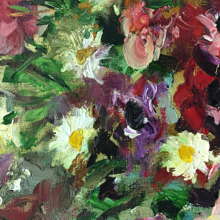 Still-Life painting by Marcel Dyf in an Impressionist style 'Daises & Anenomes' For Sale 3