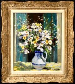 Yellow & White Anthemis - Post Impressionist Oil, Still Life Flower - Marcel Dyf