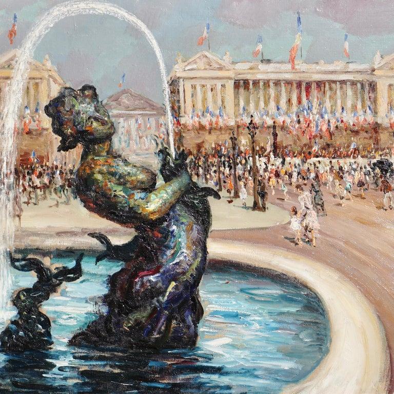 "Mid-Century Modern Marcel Dyf  ""Place De la Concorde"" For Sale"