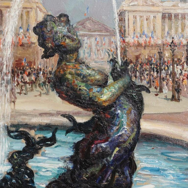 """French Marcel Dyf  """"Place De la Concorde"""" For Sale"""