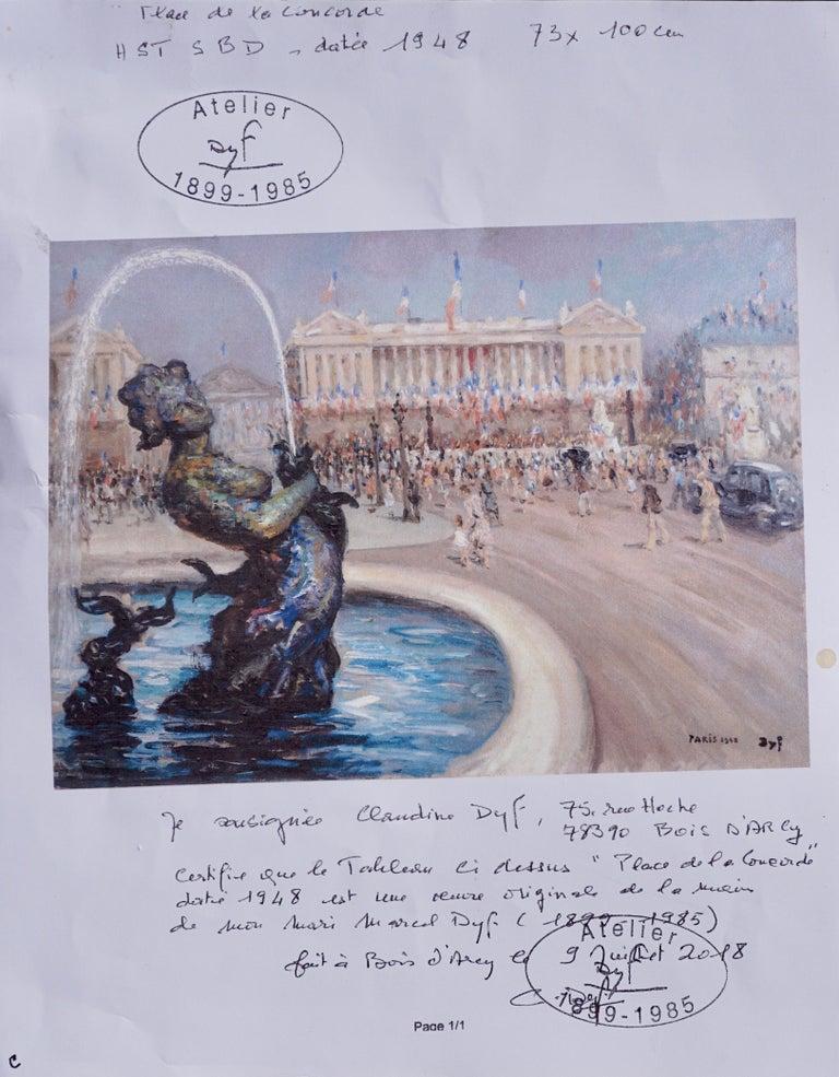 """Marcel Dyf  """"Place De la Concorde"""" For Sale 1"""