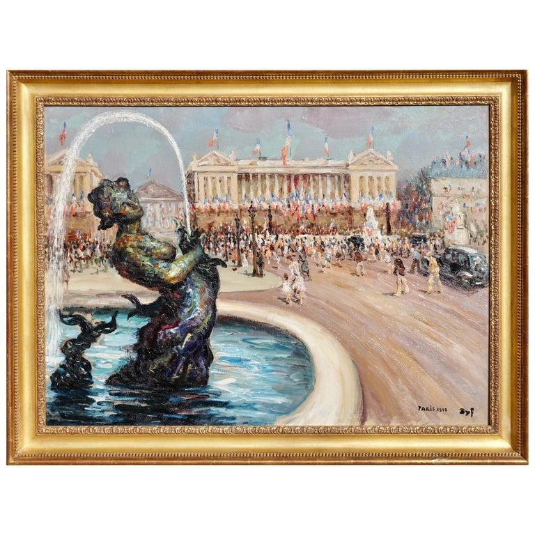 """Marcel Dyf  """"Place De la Concorde"""" For Sale"""
