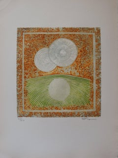 Two Suns, One Reflection - Original handsigned etching - 60 copies
