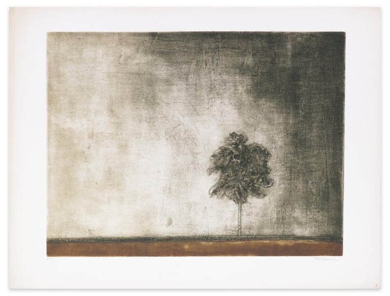 Un arbre is an original color etching and aquatint on paper, realized by the artist Marcel Fiorini (1922-2008).  This is an artist proof, signed in pencil on the lower right margin.   Beautiful specimen, with bright colors and in excellent