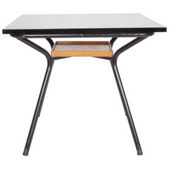 Marcel Gascoin, Card Table, circa 1950, Lacquered Metal, Formica and Wood