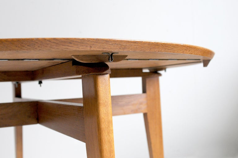 Oak Marcel Gascoin, Convertible Table