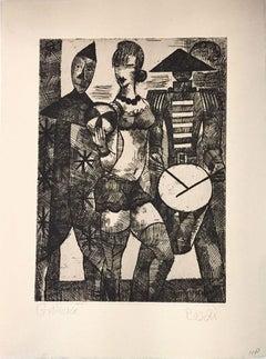 La Parade - Original Etching by Marcel Gromaire - 1931