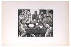 Tavern - Original Etching by Marcel Gromaire - 1952
