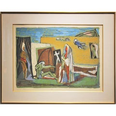 """La Mer Noire""  Figurative Dada Artist Proof"
